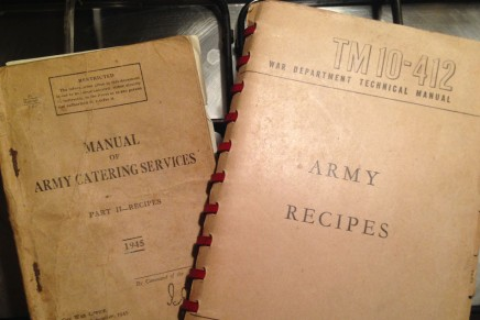 Army Recipes – No. 385 Chicken Stew with No.314 Dumplings