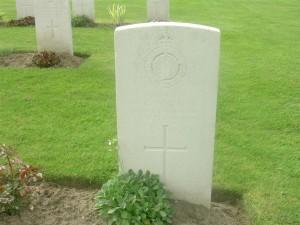 WG Flack's grave in France
