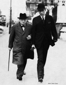 Winston Churchill with the Foreign Minister Lord Halifax, 1938.